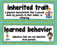 Heredity Vocabulary Cards for Word Wall includes pictures
