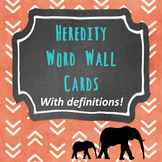 Heredity Word Wall Cards