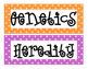 Heredity Word Wall