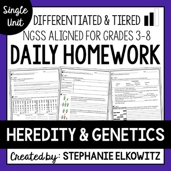 Heredity and Genetics Homework