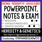 Heredity and Genetics PowerPoint, Notes & Exam