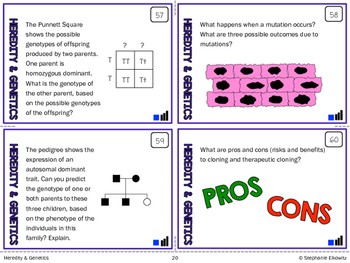 Heredity and Genetics Task Cards (Differentiated and Tiered)
