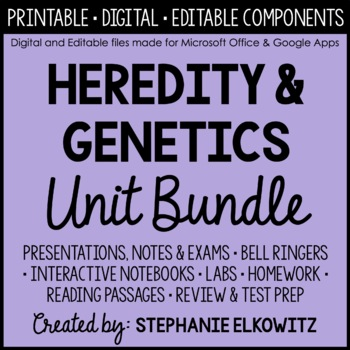 Heredity And Genetics Unit Bundle