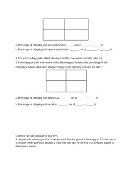 Heredity and Genetics Unit Test- 7th Grade Science