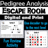 Heredity and Pedigree Activity: High School Biology Escape Room Science