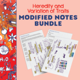 Heredity and Variation of Traits Notes & Reading Comprehension Bundle