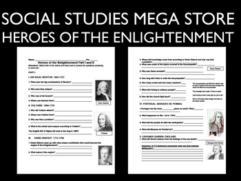 heroes of the enlightenment video guide bbc by social studies megastore. Black Bedroom Furniture Sets. Home Design Ideas