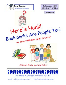 Heres Hank 1- Bookmarks are People Too! by Henry Winkler & Lin Oliver.