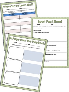 Here's How You Play: Sports Research Kit for Sports Writing Projects