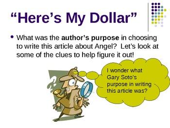 Here's My Dollar - Treasures Reading Unit 2 - Author's Purpose
