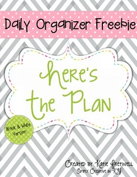 Daily Organizer FREEBIE