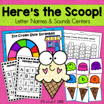 Here's the Scoop! Letter Names and Letter Sounds Game Pack