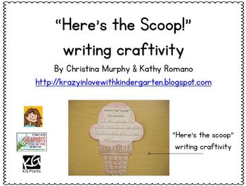 Here's the Scoop Summer Writing Craftivity