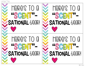 Here's to a Scent-sational School Year Gift Tags