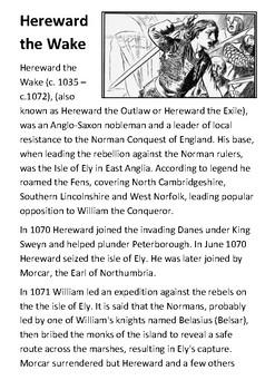 Hereward the Wake Handout
