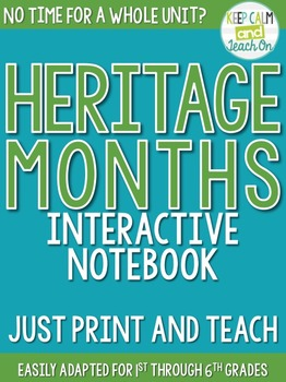 Heritage Month Interactive Notebook