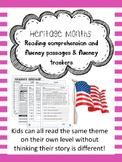 Heritage Months fluency and comprehension leveled passage