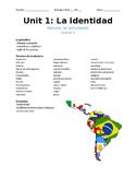 Heritage Spanish - Identity Unit Packet