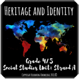 Grade 4/5 Heritage and Identity Social Studies Unit Plan