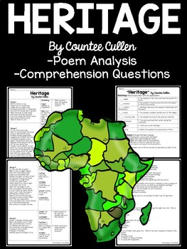 Heritage by Countee Cullen Poem Analysis and Comprehension Questions