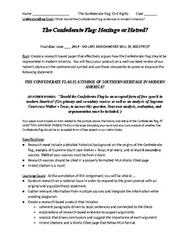 Heritage or Hate: Confederate Flag Research Assignment