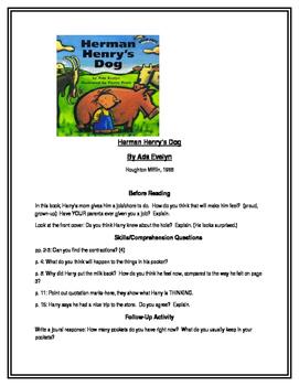 Herman Henry's Dog for Guided Reading (Houghton Mifflin)