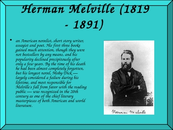Herman Melville and Moby Dick Am Lit Classic Powerpoint
