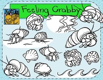Hermit Crab Beach Clip Art Kid-E-Clips Commercial and Personal