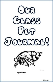 Hermit Crab Class Pet Journal