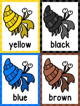 Hermit Crab Color Posters & Cards