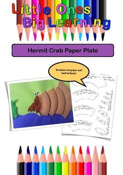 Paper Plate Hermit Crab
