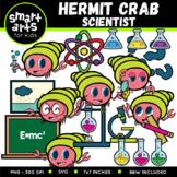 Hermit Crab Scientist Clip Art