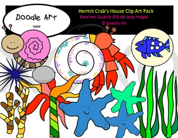 Hermit Crab's House Clipart Pack