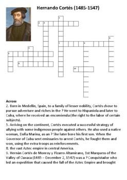 Hernan Cortes Crossword
