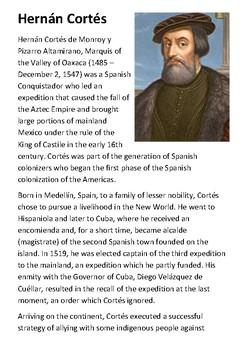 Hernán Cortés Handout