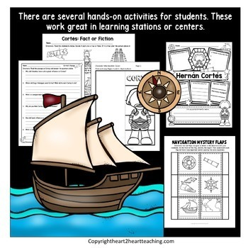 Early Explorers: Hernan Cortes Unit with Articles, Activities & Flip Book