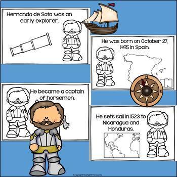 Hernando de Soto Mini Book for Early Readers: Early Explorers