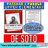 Hernando de Soto Reading Passage: Explorers: Comprehension Crossword Puzzle