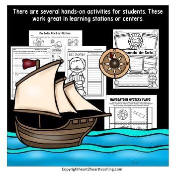 Early Explorers: Hernando de Soto Complete Unit with Articles & Activities