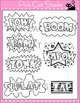 Superhero Theme Action Words Clip Art Set – Personal or Commercial Use