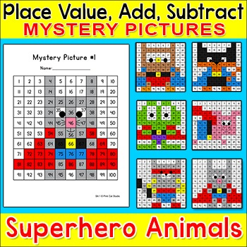 Hundreds Chart Differentiated Math Centers - Place Value,