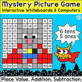 Superhero Animals Mystery Pictures Game: Place Value, Sequ