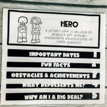 Hero Biography Flip Book