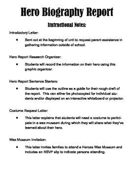 Hero Biography Writing Report & Wax Museum