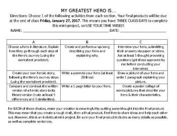 Hero Choice Assignment