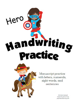 Hero Handwriting Practice - Manuscript