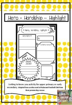 Hero, Hardship, Highlight
