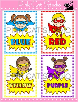 Colors Posters - Superhero Classroom Decor