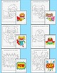 Superhero Coordinate Graphing Pictures Ordered Pairs: End of the Year Activities