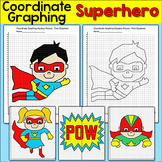 Superhero Coordinate Plane Mystery Pictures - Fun End of the Year Math Center